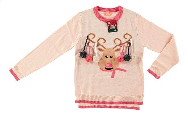 Image pour Pull de Noël dames rennes rose à partir de ColliShop