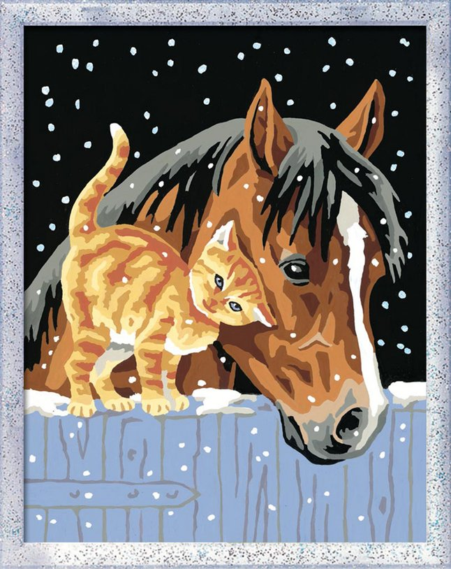 Image pour Ravensburger Numéro d'Art Deux amis sous la neige à partir de ColliShop