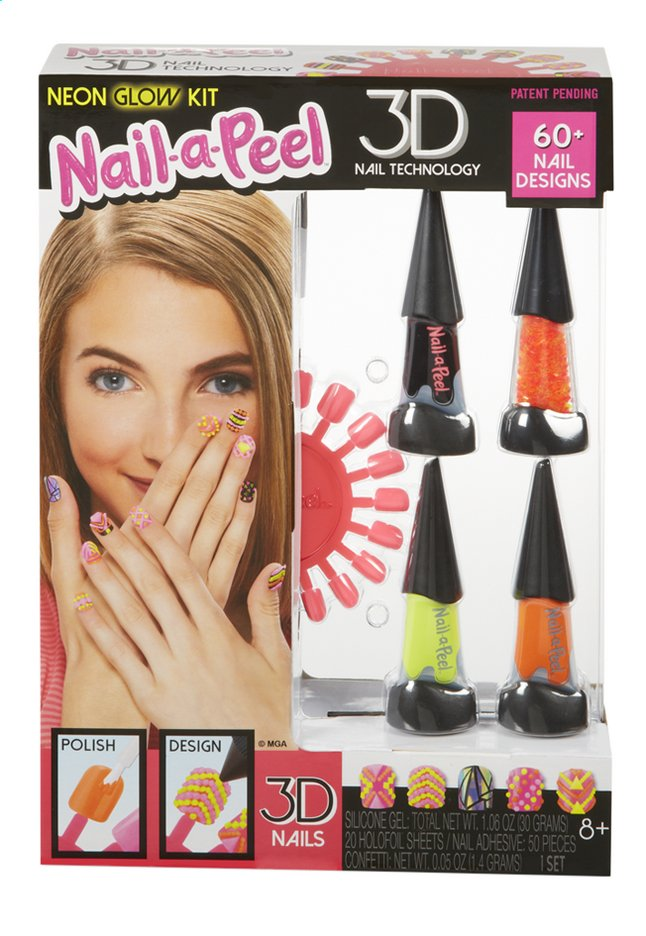 Afbeelding van Nail-a-Peel Theme Kit Neon Glow from ColliShop