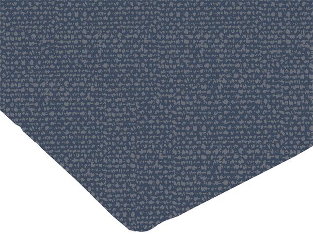 Origin Drap-housse Jean bleu/gris bambou/coton 90 x 200 cm