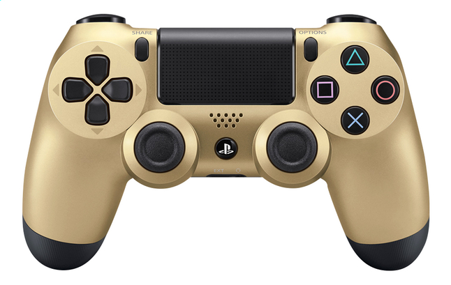 Afbeelding van PS4 wireless controller Gold from ColliShop