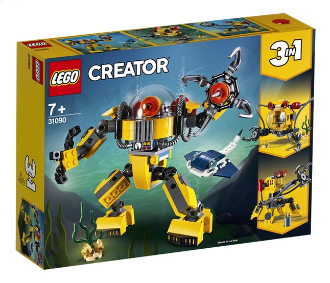 Afbeelding van LEGO Creator 3-in-1 31090 Onderwaterrobot from ColliShop