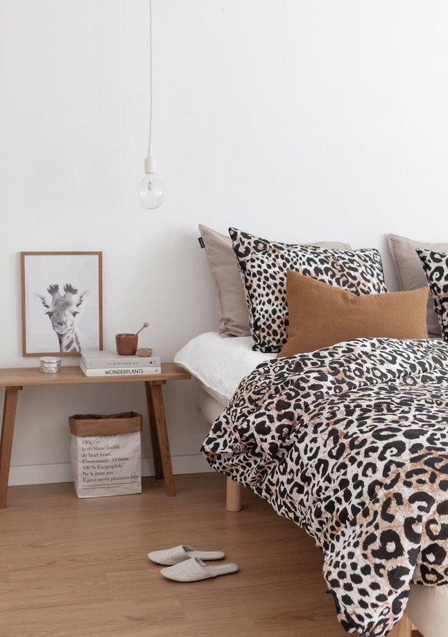 Afbeelding van Ambianzz Dekbedovertrek Leopard Skin naturel katoen from ColliShop