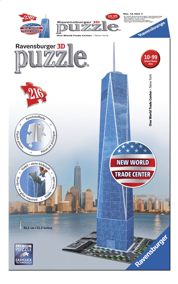 Afbeelding van Ravensburger 3D-puzzel One World Trade Center from ColliShop