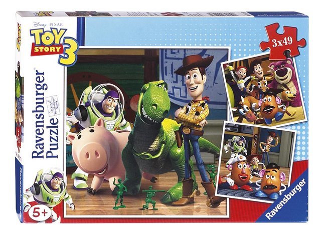Afbeelding van Ravensburger puzzel 3-in-1 Toy Story 3: Woody & Rex from ColliShop