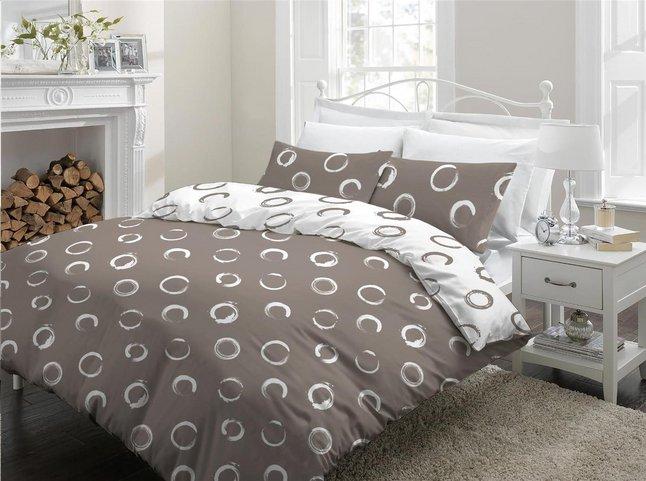 Sleepnight Housse De Couette Lieve Flanelle Taupe 270 X 220 Cm