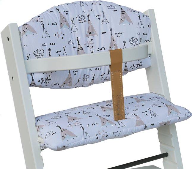 Image pour Treppy Coussin réducteur pour chaise haute white à partir de ColliShop