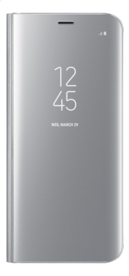Afbeelding van Samsung foliocover Galaxy S8 Clear stand view zilver from ColliShop