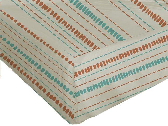 Image pour Origin Drap-housse Ninon orange/ivoire bambou/coton 140 x 200 cm à partir de ColliShop