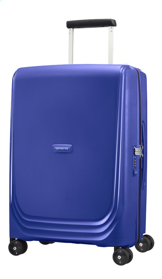 Afbeelding van Samsonite Harde reistrolley Optic Spinner royal blue 55 cm from ColliShop