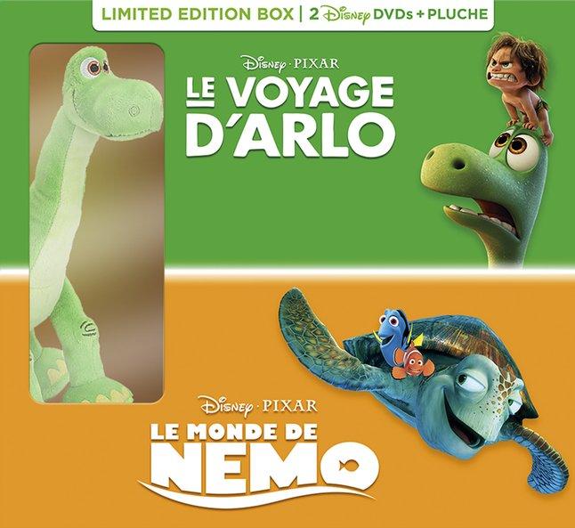 Afbeelding van Dvd Le Voyage d'Arlo + Le Monde de Nemo + pluche FR from ColliShop