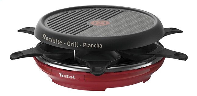 Tefal Grill-raclette Colormania RE12A512 rood