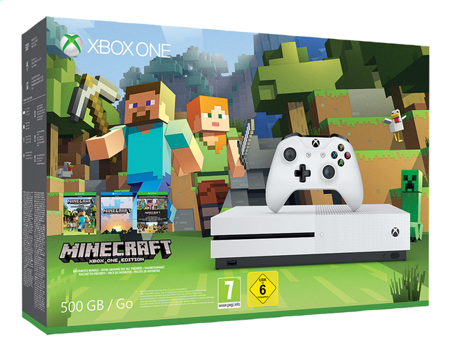 Afbeelding van XBOX One S 500 GB + Minecraft from ColliShop