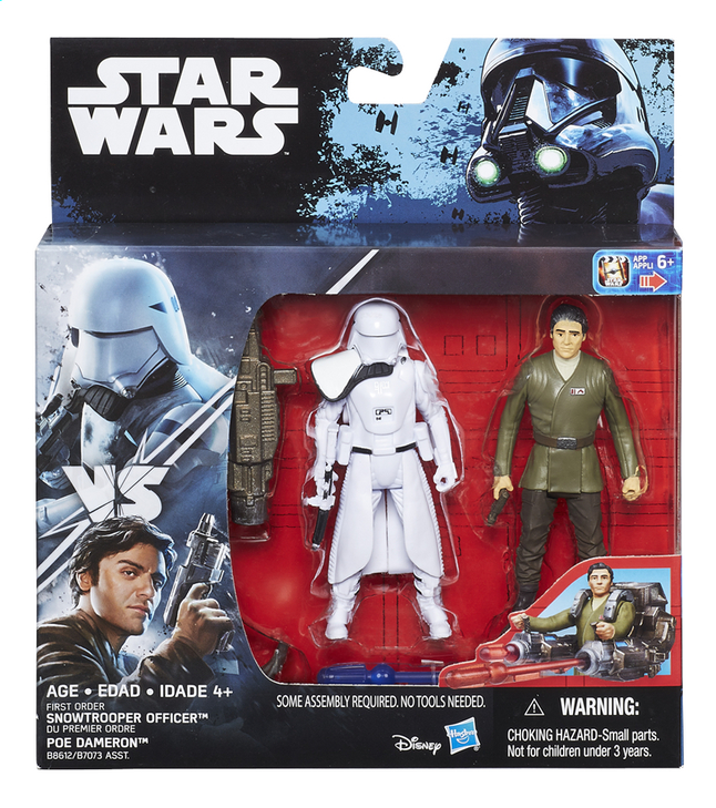 Image pour Hasbro Set Star Wars Rogue One deluxe pack First Order Snowtrooper Officer & Poe Dameron à partir de ColliShop