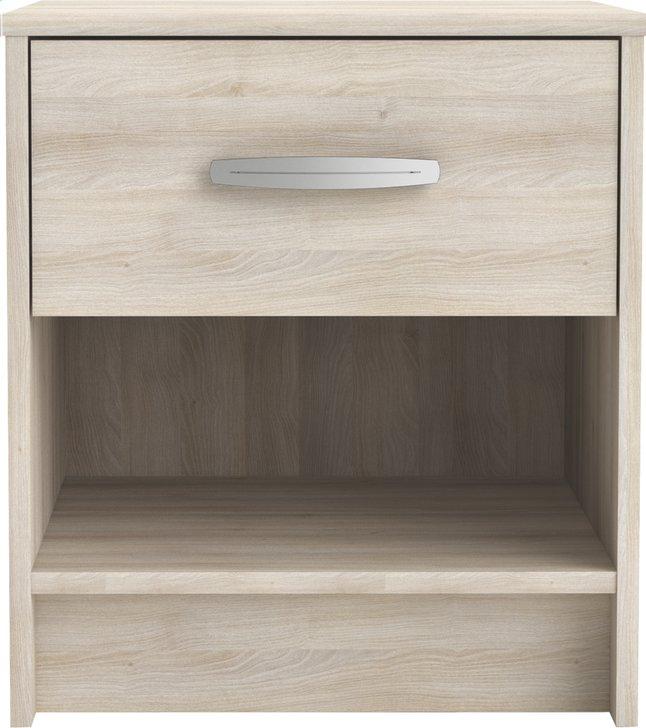 Image pour Table de nuit Borea 1 tiroir décor acacia à partir de ColliShop