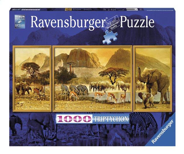 Afbeelding van Ravensburger puzzel Triptychon Onderweg in Afrika from ColliShop