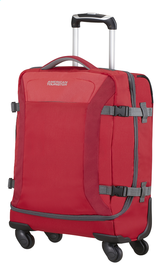 Afbeelding van American Tourister Reistas op wieltjes Road Quest Spinner solid red 55 cm from ColliShop