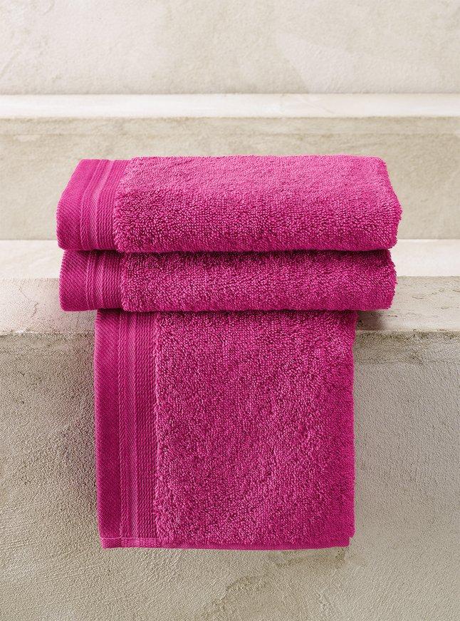 De Witte Lietaer 3 serviettes d'hôte 40 x 60 cm Contessa magenta