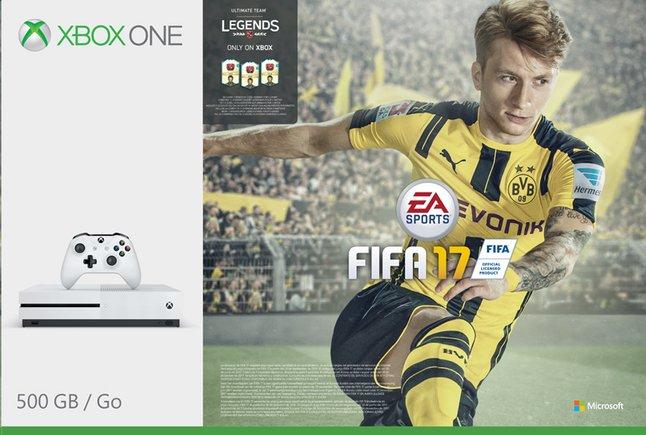 Afbeelding van XBOX One S 500 GB + Fifa 17 met Fifa Legends from ColliShop