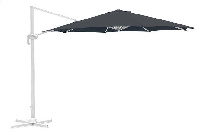 Parasol suspendu aluminium Ø 3,5 m gris