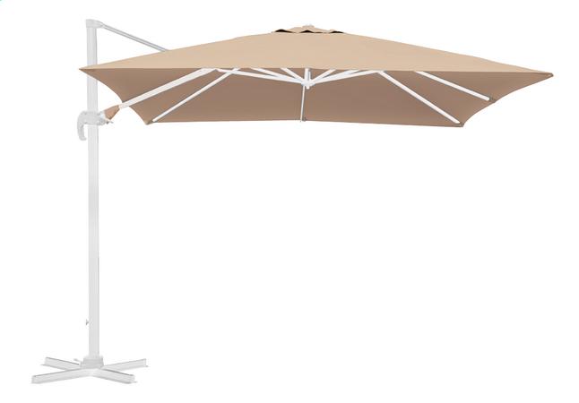 Image pour Parasol suspendu aluminium 3 x 3 m sable avec mât blanc à partir de ColliShop