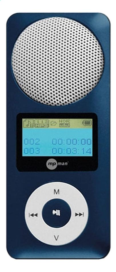 Afbeelding van mpman mp3-speler Fiesta 2 2 GB blauw from ColliShop