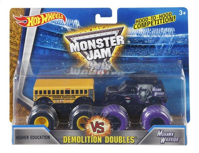 Afbeelding van Hot Wheels Monster Truck Demolition Doubles Higher Education VS Mohawk Warrior from ColliShop