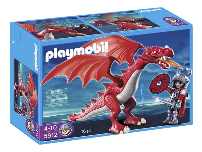 Afbeelding van Playmobil Knights 5912 Red Dragon from ColliShop