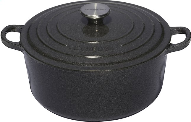 Afbeelding van Le Creuset ronde stoofpan Tradition midnight grey 22 cm - 3,3 l from ColliShop