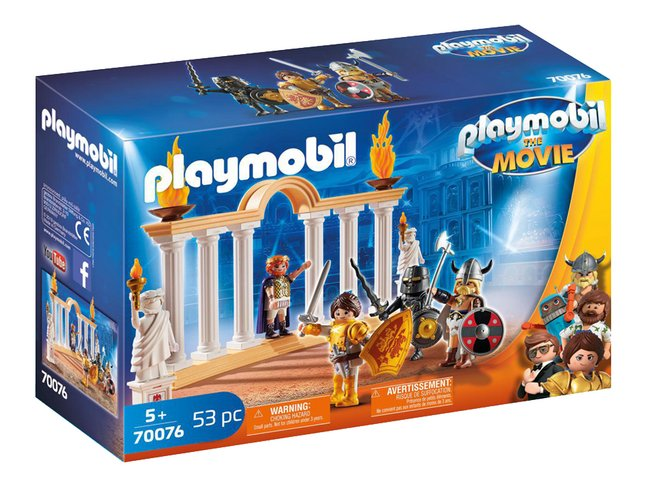PLAYMOBIL The Movie 70076 Empereur Maximus et Colisée