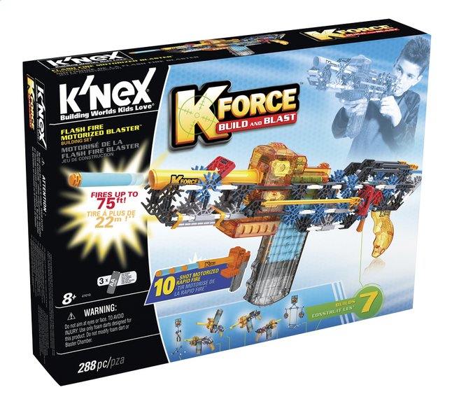 Afbeelding van K'nex K-Force Build and Blast Flash Fire motorized blaster from ColliShop