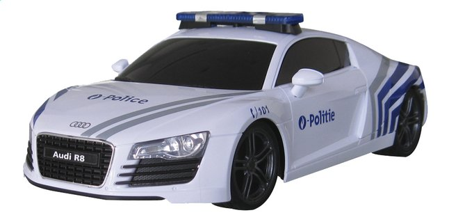 Xq voiture rc audi r8 police belge collishop for Garage audi 93