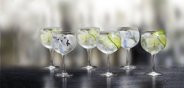 Royal Leerdam 8 cocktailglazen Time to Party Gin and Tonic 60 cl