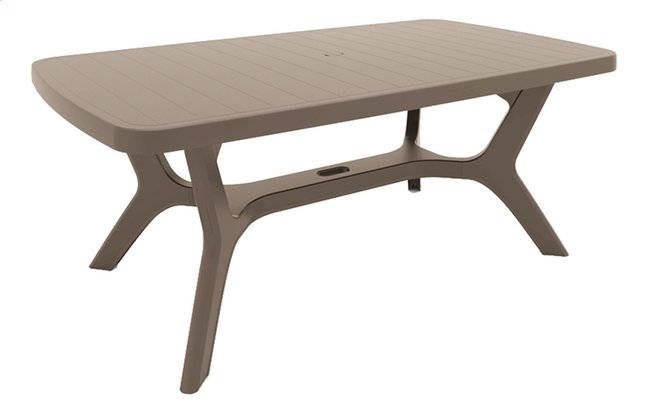 Allibert Table de jardin Baltimore cappuccino L 177 x Lg 100 cm