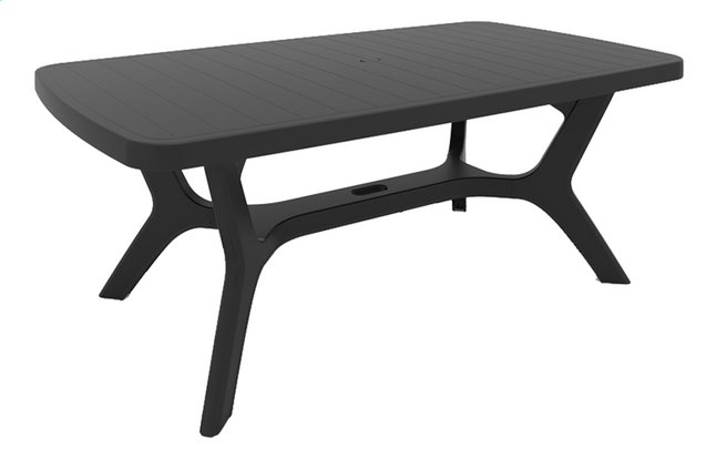 Allibert Table de jardin Baltimore gris graphite L 177 x Lg 100 cm