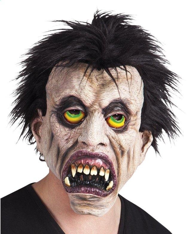 Masque vampire aux cheveux noirs