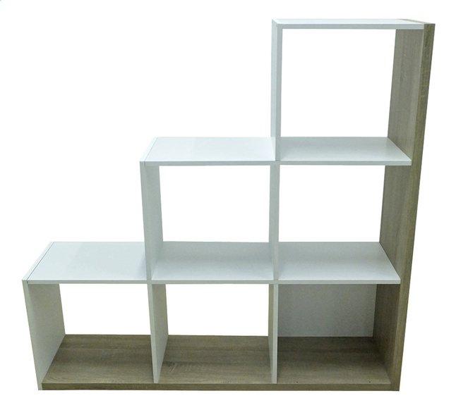 Image pour Demeyere Meubles Bibliothèque Stairs décor chêne/décor blanc à partir de ColliShop