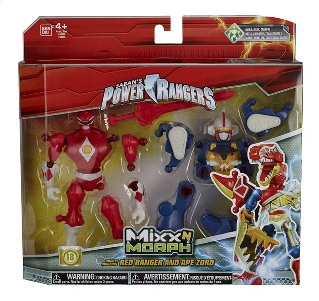 Afbeelding van Set Power Rangers Mixx N Morph Mighty Morphin Red Ranger en Ape Zord from ColliShop