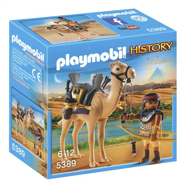 Afbeelding van Playmobil History 5389 Egyptische krijger met dromedaris from ColliShop