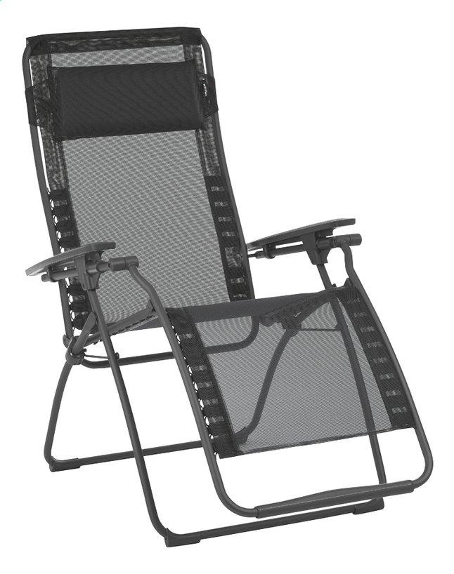 Image pour Lafuma chaise longue Futura Batyline Black noir à partir de ColliShop