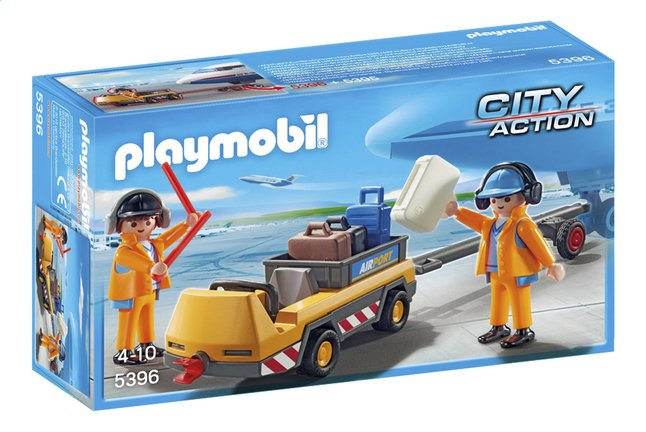 Afbeelding van Playmobil City Action 5396 Luchtverkeersleiders met bagagetransport from ColliShop