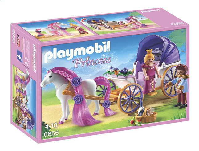 Afbeelding van Playmobil Princess 6856 Koninklijke koets met paard om te kammen from ColliShop