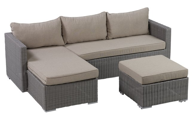 Afbeelding van Loungeset Alberta taupe from ColliShop
