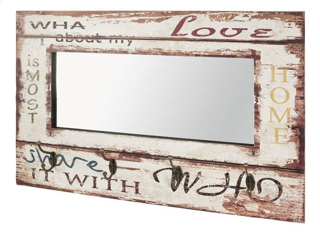 Afbeelding van Haku-Möbel Wandkapstok met 4 haken Love 4 Vintage houtkleur licht/wit 52 cm from ColliShop