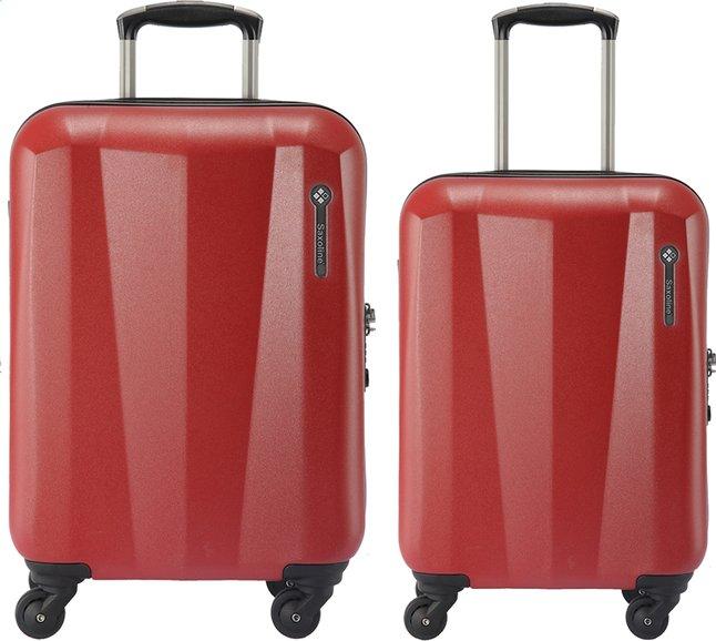 Image pour Saxoline Valise rigide Milan Spinner rouge à partir de ColliShop