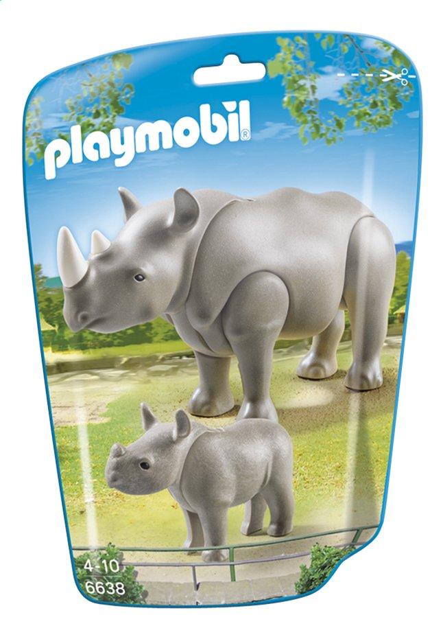 Afbeelding van Playmobil City Life 6638 Neushoorn met baby from ColliShop