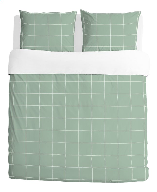Walra housse de couette square feet jade coton 200 x 220 for Housse couette foot