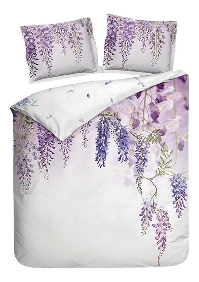 Image pour Heckett & Lane Housse de couette Carmen wisteria pink satin de coton 260 x 220 cm à partir de ColliShop