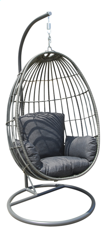 fauteuil suspendu mendora gris fonc collishop. Black Bedroom Furniture Sets. Home Design Ideas