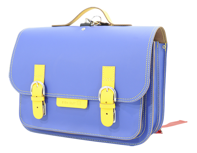 Afbeelding van # Own Stuff Boekentas Cobalt/Yellow 38 cm from ColliShop